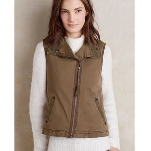 Anthro Marrakech Sherpa Lined Utility Vest